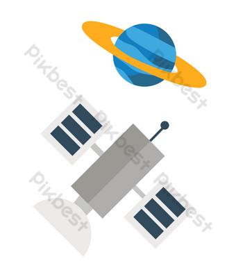 ilustración de nave espacial tripulada Elementos graficos Modelo PSD