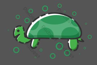 vida marina tortuga marina animal Elementos graficos Modelo PSD