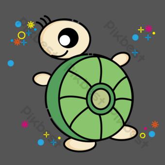 tortuga marina Elementos graficos Modelo PSD