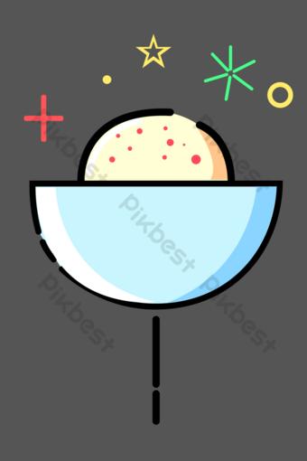 helado de bola de nieve mbe Elementos graficos Modelo PSD