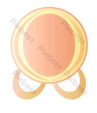 ilustración de placa redonda rosa de carne Elementos graficos Modelo PSD