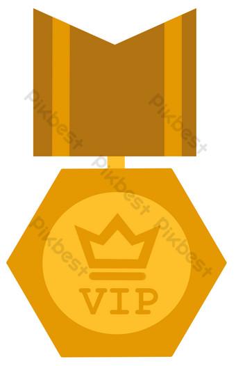 miembro de la corona vip logo Elementos graficos Modelo PSD