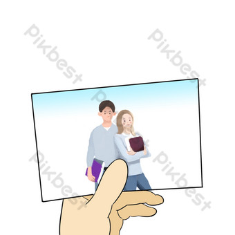 Men and women cuddling together during graduation season PNG Images Template PSD