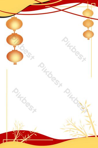 Bordure de style papier découpélément lanterne festival mi-automne Éléments graphiques Modèle PSD
