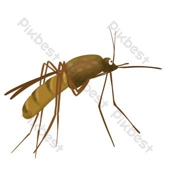 蚊子手繪卡通形象 元素 模板 PSD