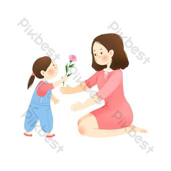 母親節愛媽媽 元素 模板 PSD