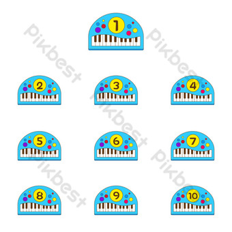 New Media Children's Day Separator Number PNG Images Template AI