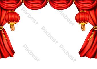 新年喜慶舞台幕布 元素 模板 PSD