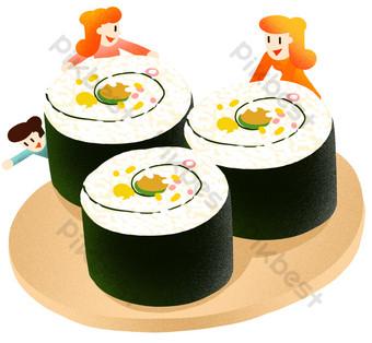 ilustración de algas de arroz de víspera de año nuevo Elementos graficos Modelo PSD