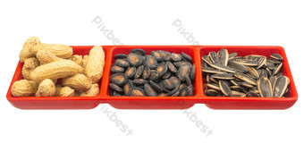Nut snacks melon seeds PNG Images Template RAW
