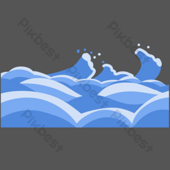 Ocean, wave, sea water PNG Images Template PSD