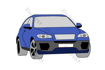 ilustrasi mobil off road Elemen Grafis Templat PSD