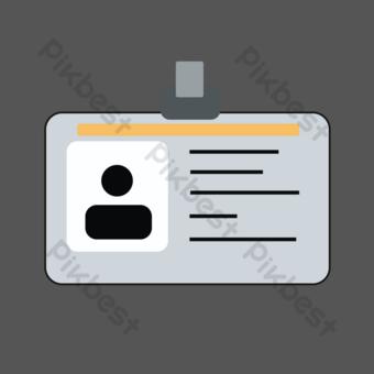 موظف مكتب حامل بطاقة العمل التوضيح صور PNG قالب PSD