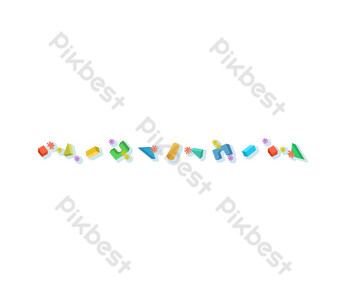 Official Account Separator Liuyi Toys PNG Images Template PSD