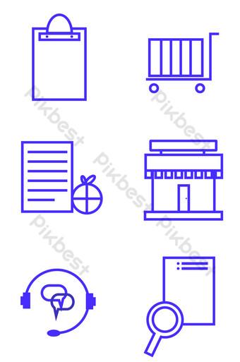 compras en línea icono de compras en línea Elementos graficos Modelo PSD