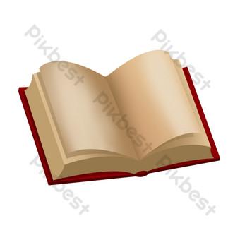 打開書本psd透明底 元素 模板 PSD