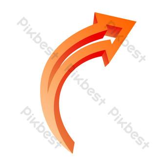 flecha única hacia arriba roja naranja Elementos graficos Modelo AI