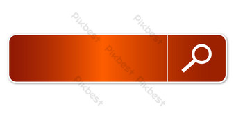Orange search box PNG Images Template AI