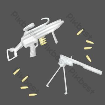 طلقات نارية من الذخائر النارية صور PNG قالب PSD