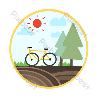 icono de ciclismo al aire libre Elementos graficos Modelo PSD