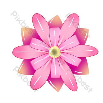 patrón de flores rosa púrpura Elementos graficos Modelo PSD