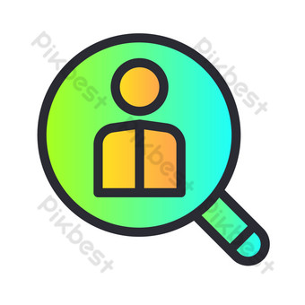People search icon PNG Images Template AI