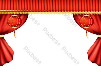 表演舞台幕布 元素 模板 PSD