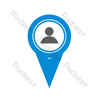 Personal location PNG Images Template PSD