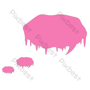 розовый рисунок свободный вырез Графические элементы шаблон PSD