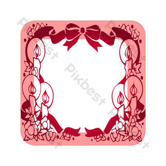 borde de código qr festivo rojo rosa Elementos graficos Modelo PSD