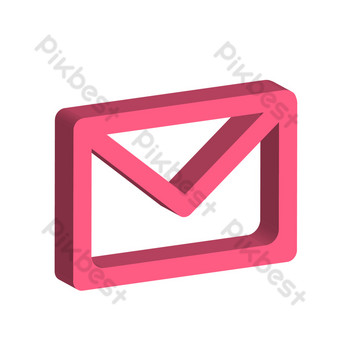 mensaje de correo electrónico simple rosa reanudar el pequeño icono Elementos graficos Modelo AI