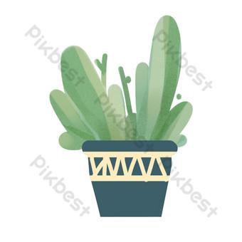 planta en maceta simple y fresca Elementos graficos Modelo PSD