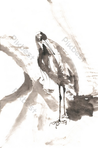 pluma pájaro tinta pintura png gratis Elementos graficos Modelo PSD