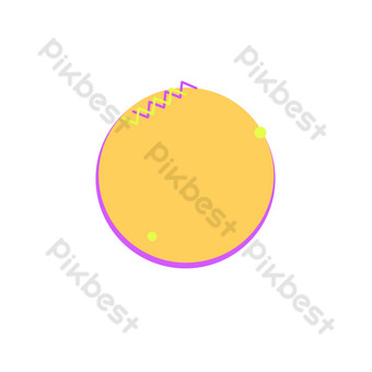 Pop style simple free button border PNG Images Template PSD