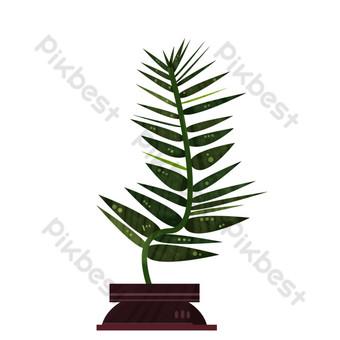 盆栽的植物盆栽的植物常綠植物 元素 模板 PSD