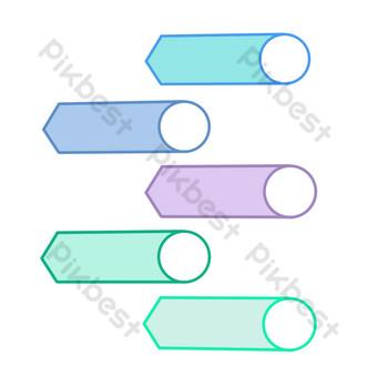 icono redondo de cabeza de corte ppt Elementos graficos Modelo PSD