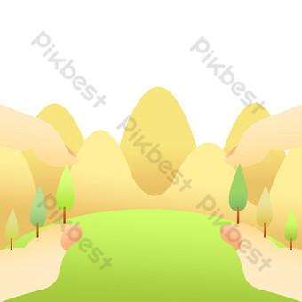 archivo de origen psd ilustración libre del festival del árbol de plantación Elementos graficos Modelo PSD