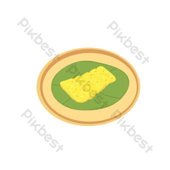 archivo fuente psd ilustración tradicional pastel de arroz gratis Elementos graficos Modelo PSD