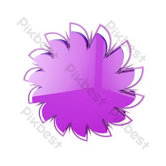 Décoration de carte de fond de pétale de mode violet e-commerce C4D Éléments graphiques Modèle PSD