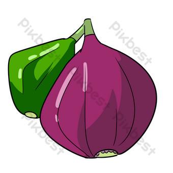 紫色無花果圖 元素 模板 PSD