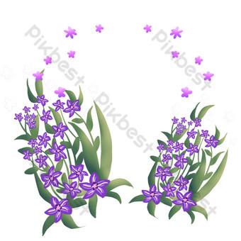 flor morada hermosa y fresca corona Elementos graficos Modelo PSD