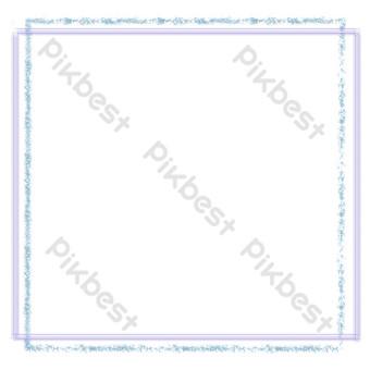 borde floral línea púrpura Elementos graficos Modelo PSD