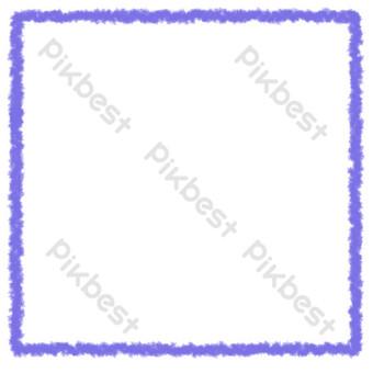 borde floral literario púrpura Elementos graficos Modelo PSD