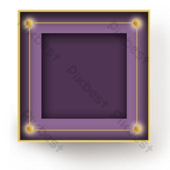 borde púrpura del código qr Elementos graficos Modelo PSD