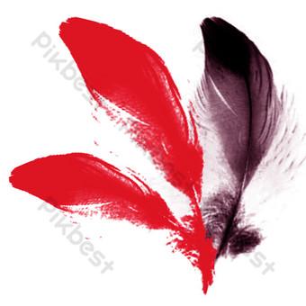 plumas de felpa realistas Elementos graficos Modelo PSD