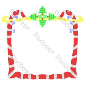 borde de rayas rojas y blancas Elementos graficos Modelo PSD