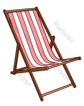 sillón de rayas rojas y blancas Elementos graficos Modelo PSD