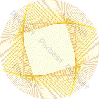 diseño de línea irregular degradado rojo y amarillo Elementos graficos Modelo AI