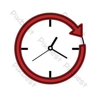 reloj minimalista flecha roja Elementos graficos Modelo PSD
