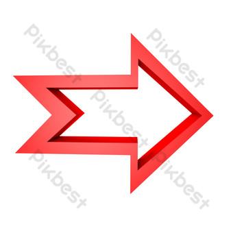 flecha roja apuntando a la derecha Elementos graficos Modelo C4D